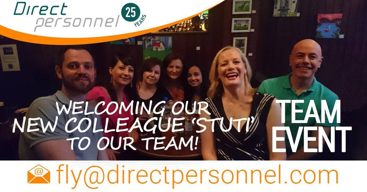 Direct Personnel welcome their new colleague Stuti to the team - Direct Personnel