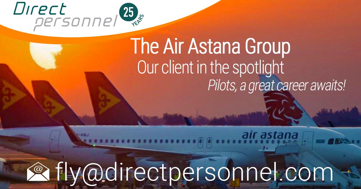 View our client in the spotlight Pilot Jobs, Air Astana Group Jobs, Air Astana, FlyArystan - Direct Personnel