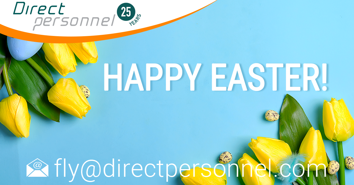 Happy Easter, Pilots we wish you a happy Easter, Easter weekend, Pilot jobs, airline industry jobs, Flight Crew jobs - Direct Personnel