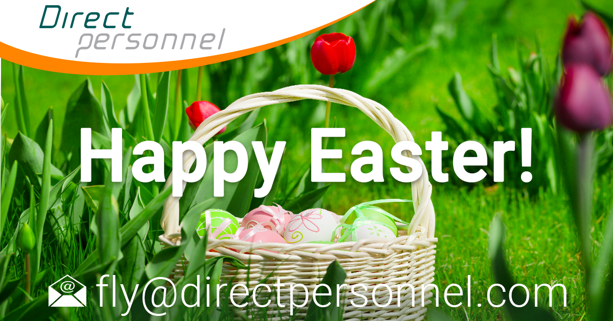 Happy Easter, Easter 2021, Pilots we wish you a happy Easter, Easter weekend, Pilot jobs, airline industry jobs, Flight Crew jobs - Direct Personnel