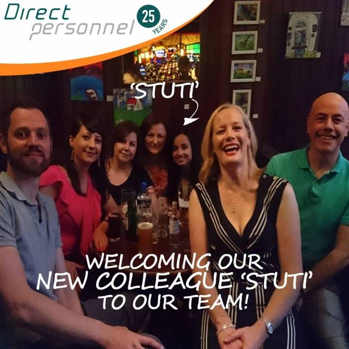 Our Direct Personnel Team welcomes Stuti Saxena, Recruitment Consultant to the team - Direct personnel