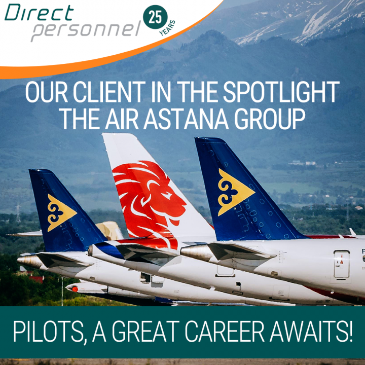 View our client in the spotlight Pilot Jobs, Air Astana Group Jobs, Air Astana, FlyArystan - Direct Personnel