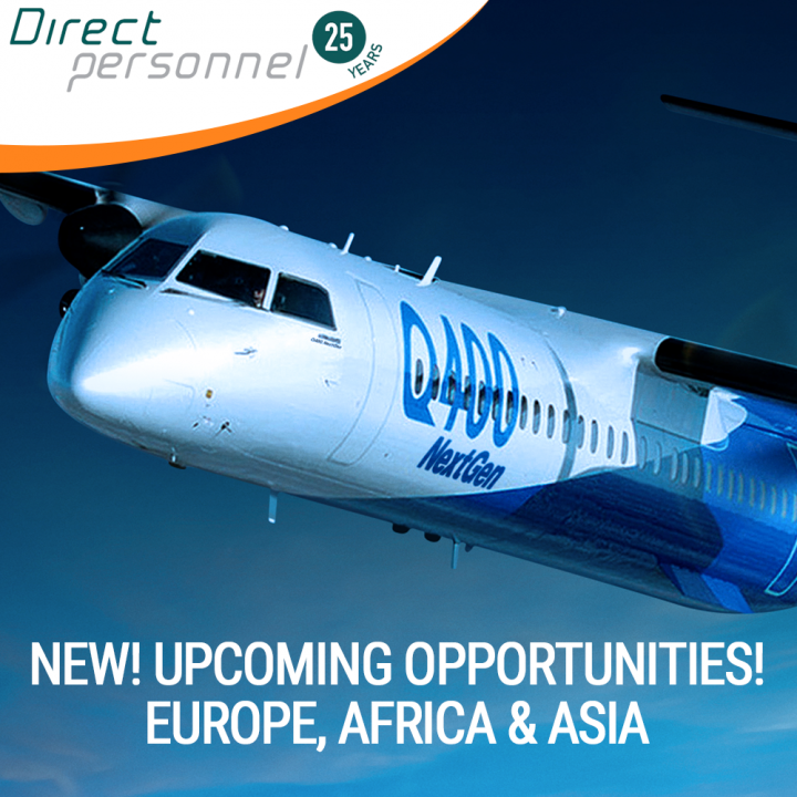 DHC8 Q400 Captains & First Officers - Upcoming opportunities in Europe, Africa & Asia - Direct Personnel