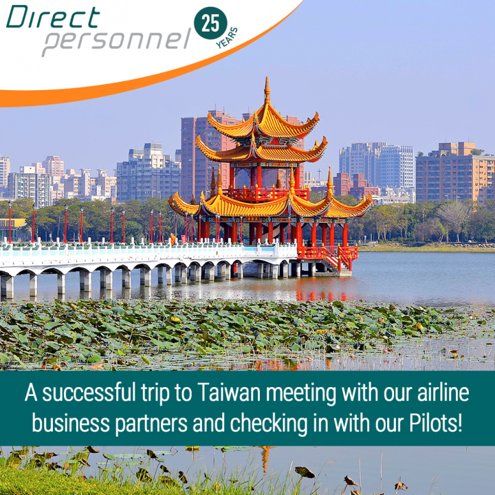 Direct Personnel visits Taiwan, Pilotjobs in Taiwan, First Officer positions in Taiwan - Captain vacancies Taiwan - Direct Personnel