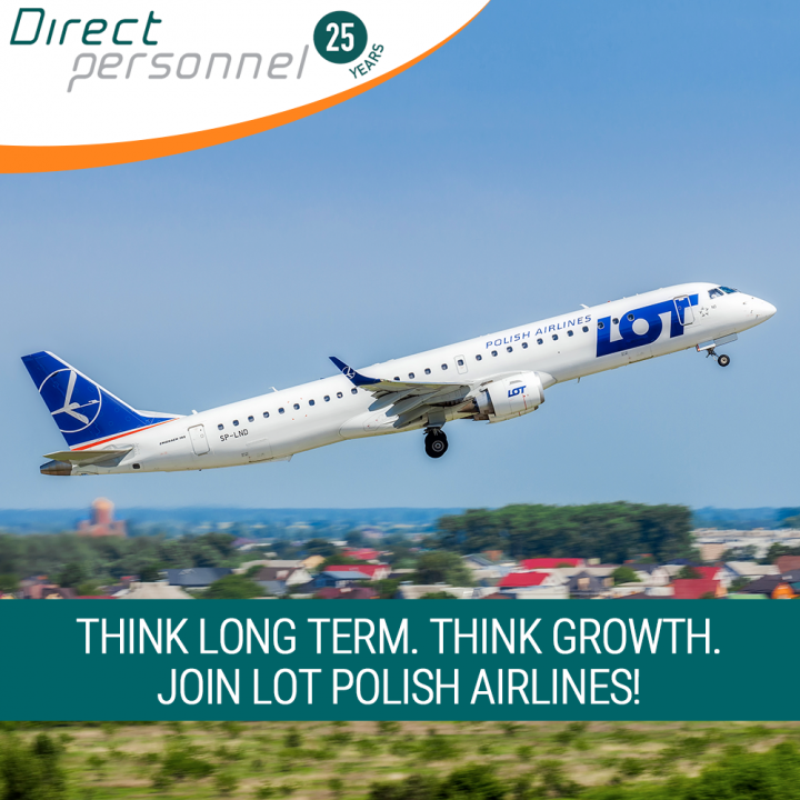 DHC8 Q400 Pilot jobs, EMB170/190 Pilot Jobs, Hiring DHC8 Q400 First Officers, Hiring EMB170/190 Captains, LOT Polish Airlines Pilot Jobs - Direct Personnel