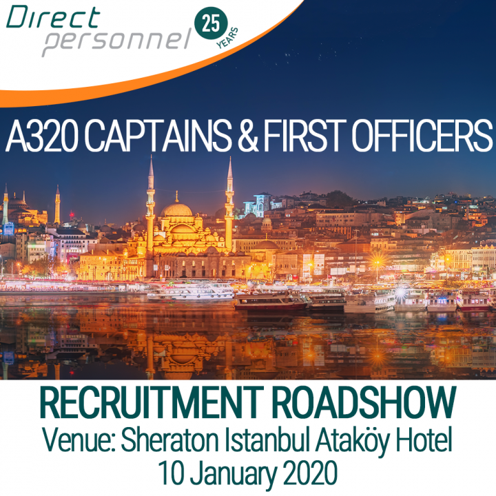 A320 Pilots, A320 Captains, A320 First Officers, Join Air Astana, Direct Personnel Recruitment Roadshow - Pilot recruitment roadshow Sheraton Istanbul Ataköy Hotel, Register, sign up - Direct Personnel