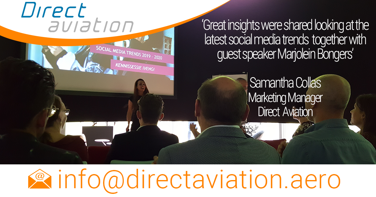 Direct Aviation attends social media trends workshop organised by their business partner Ivengi