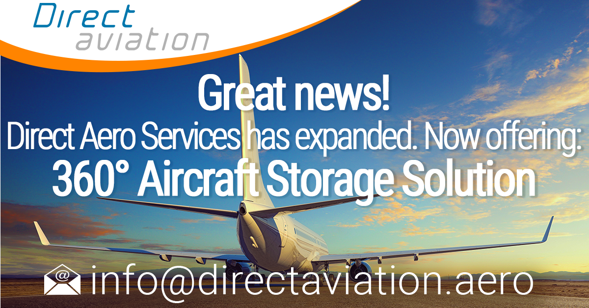 Direct Aviation Group news, Direct Aviation aviation community news, aircraft parking storage solutions, aircraft leasing industry aircraft parking solutions,  Announcement Direct Aero Services- 360° Aircraft Storage Solution - Contact Direct Aero Service
