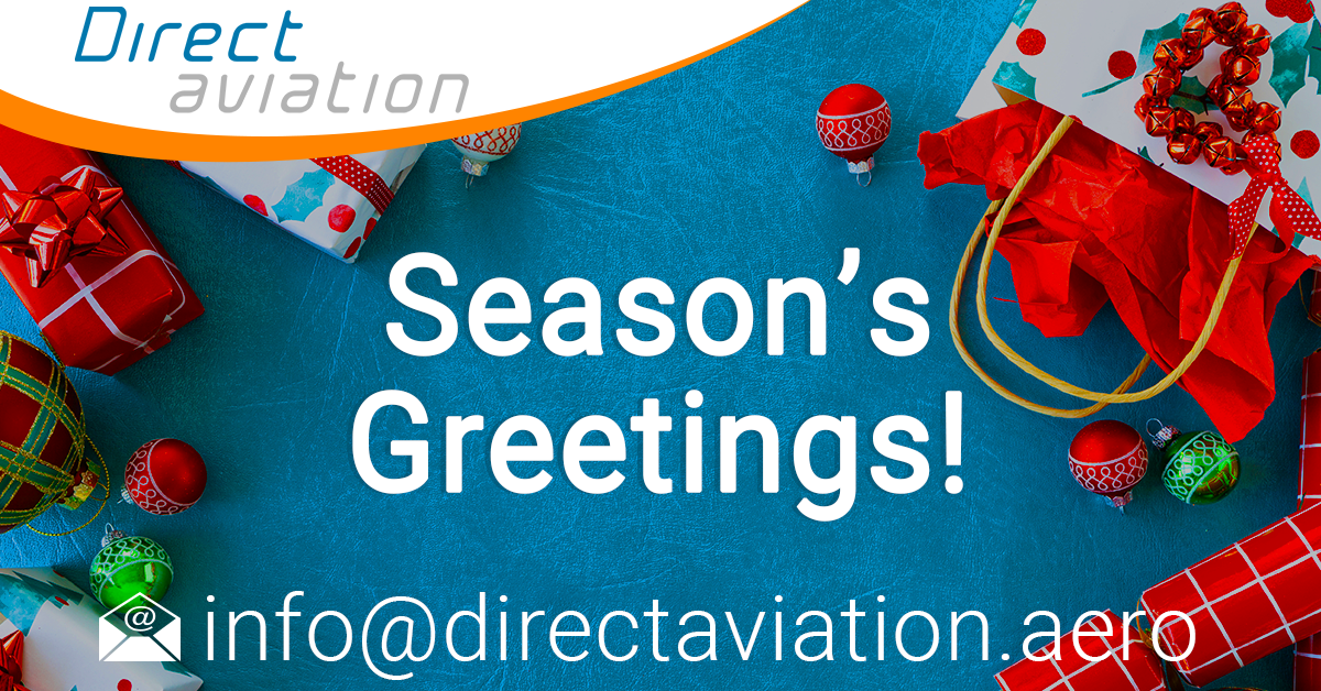 merry christmas and happy new year, season's greetings, Christmas message - Direct Aviation Group