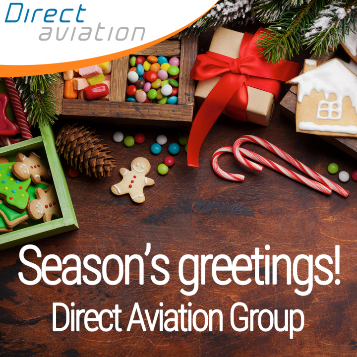 Season's greetings, thanks to our aviation industry business partners, festive season, happy new year, aircraft leasing, pilot recruitment, aircraft technical services, galley insert equipment - Direct Aviation