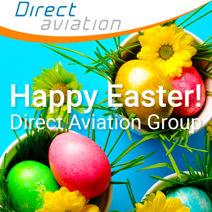 Direct Aviation Group news, happy Easter, aviation professionals, happy easter to cabin crew, happy Easter aviation, aviation industry, airline industry, aircraft parking, pilo jobs, catering equipment  - Direct Aviation