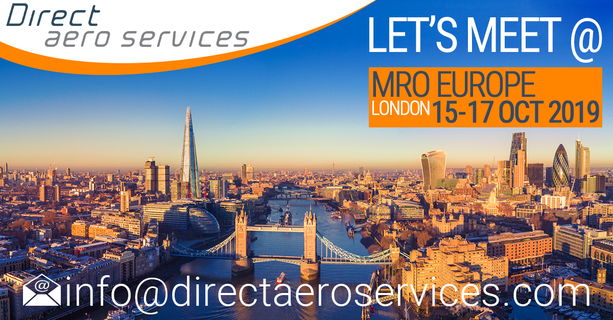 MROE, MRO Europe 2019, Direct Aero Services attends MRO Europe 2019, Paul Hyland attends MRO Europe, Arrange to meet at MRO Europe, 360° Aircraft Storage Solutions, Aircraft parking, Aircraft Storage, Aircraft technical solutions, Aviation lessor services