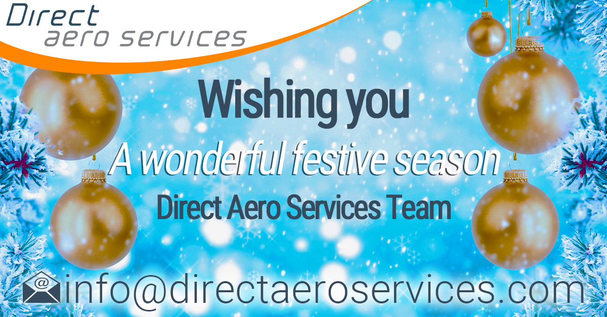 Merry christmas, Happy new year, Season's greetings, aircraft leasing industry, aircraft technical services, aircraft lessors - Direct Aero Services