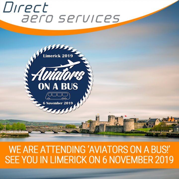 Aviators on a Bus, hosted by Compass Aviation Group LLC, Attending Aviators on a Bus, SILC 2019, Shannon International Leasing Conference, Direct Aero Services is attending SILC, Technical Executives, Aviation Technical Management, Lessors, Aircraft Leasi