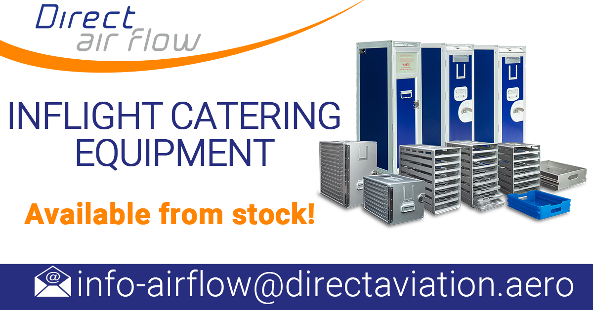 Direct Air Flow is the official distributor of the Aluflite range of inflight catering equipment manufactured by our sister company, Korita Aviation.