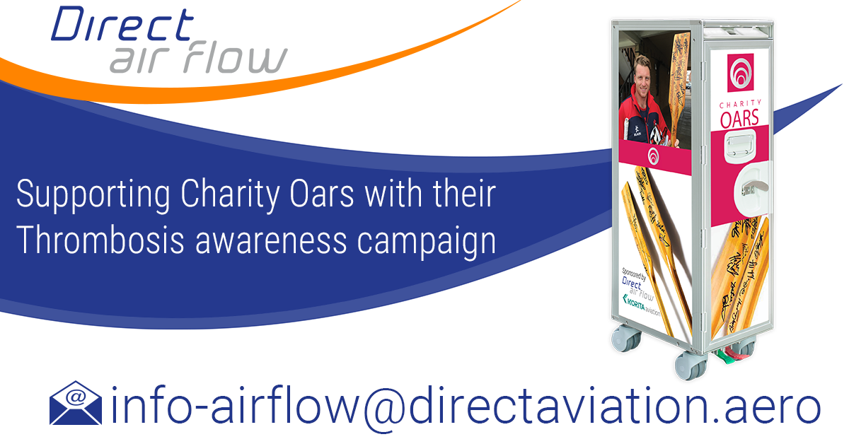 Direct Air Flow sponsors Charity Oars with their Thrombosis awareness campaign - Direct Air Flow