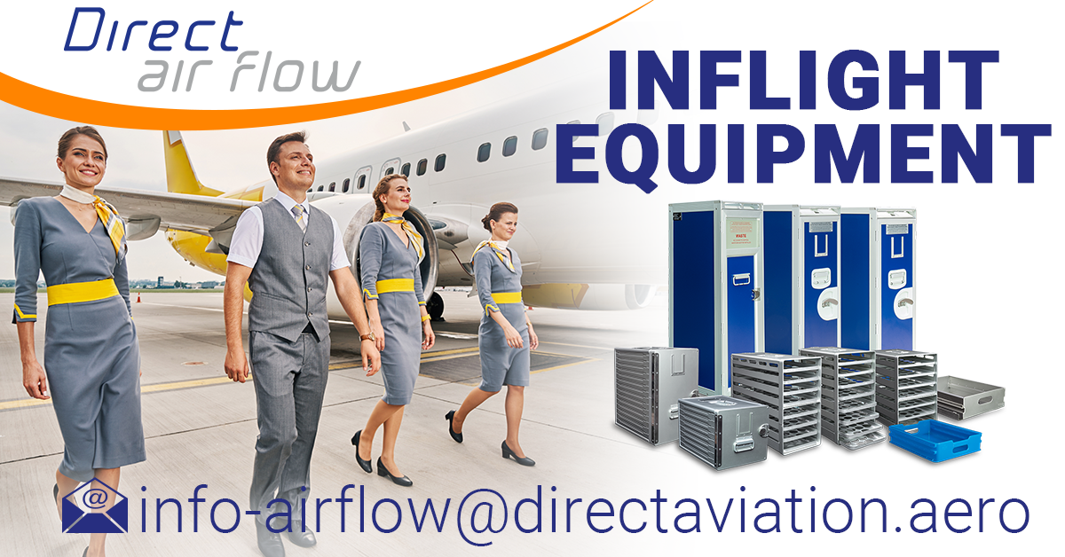 cabin interior products supplier, inflight catering equipment supplier, beverage carts, airline carts, airline trolleys food and beverage carts, storage containers, cool bags, drawers, drink servers - Direct Air Flow