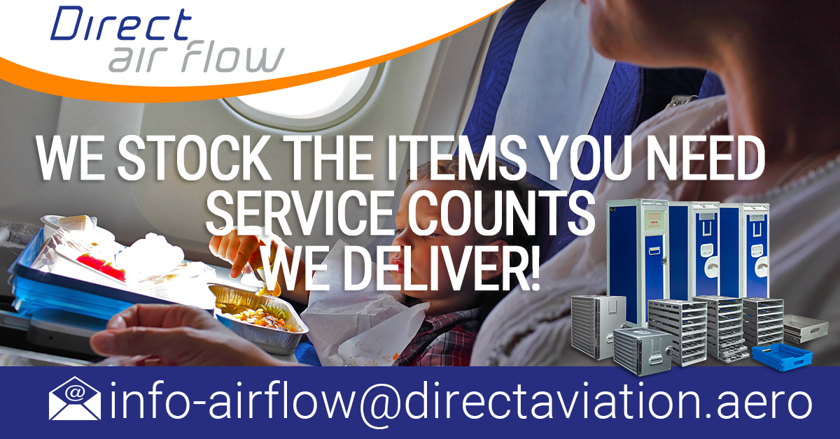 Direct Air Flow LinkedIn company page, follow us on LinkedIn, Stay tuned on Direct Air Flow, Direct Air Flow galley insert equipment, galley inserts available from stock, airline catering products, contact Direct Air Flow, Follow - Direct Air Flow