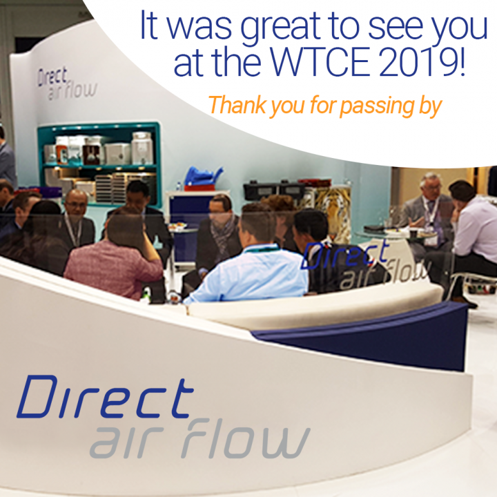 Thank you for meeting with the Direct Air Flow team during the WTCE 2019!