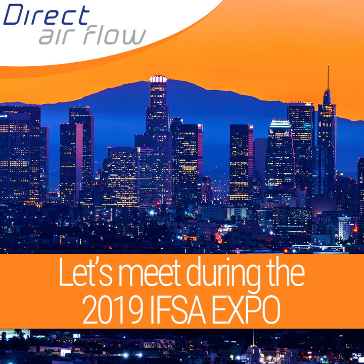 Direct Air Flow are attending the 2019 IFSA EXPO. Arrange to meet with Jamie Melleney, Sales Manager, Direct Air Flow