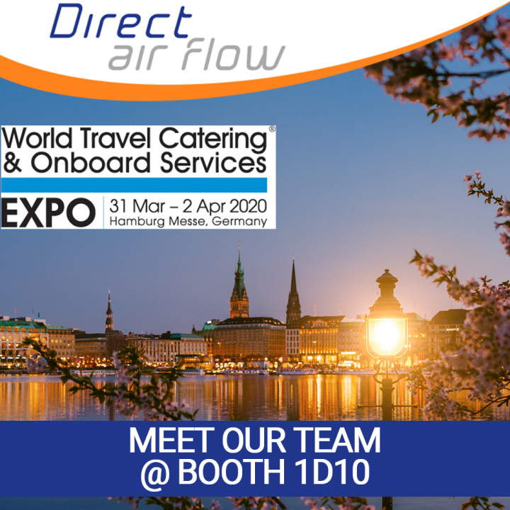 Direct Air Flow exhibits at WTCE 2020, Worl Travel Catering & Onboard Services, catering equipment, meet us, direct air flow news, attending wtce 2020, airlines meet us, cabin interior products, aircraft interior products - Direct Air Flow