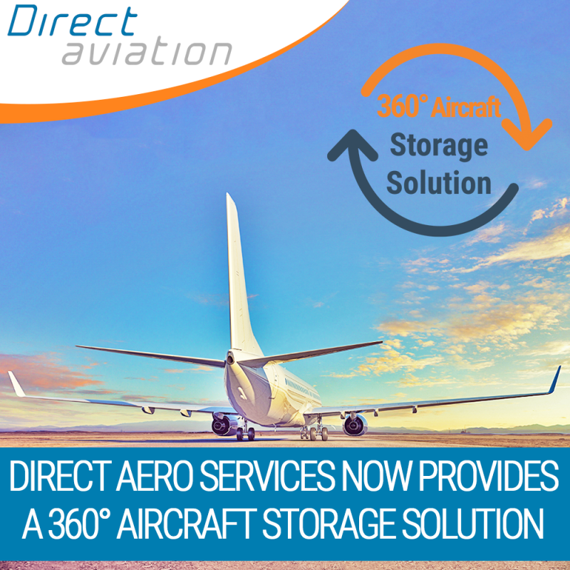 Direct Aviation Group news, Direct Aviation aviation community news, aircraft parking storage solutions, aircraft leasing industry aircraft parking solutions,  Announcement Direct Aero Services- 360° Aircraft Storage Solution, aircraft parking - Contact D