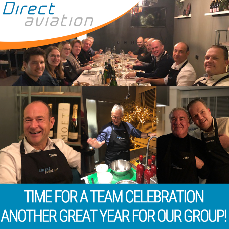 Direct Aviation Group news, Direct Aviation celebrates a fantastic year, Direct Aviation Group team event, Reach out to Direct Aviation, The Direct Aviation Group supports the aviation industry with aircraft technical support, pilot recruitment and galley