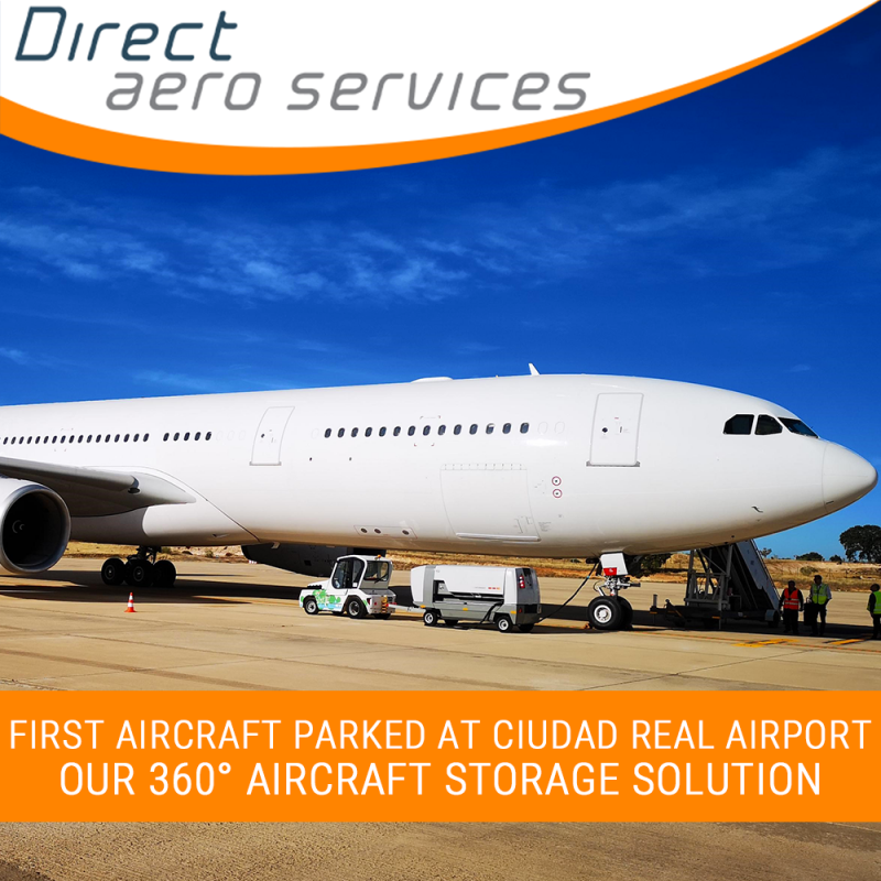 First Aircraft Parked with our 360°Aircraft Storage Solution! - Direct Aero Services