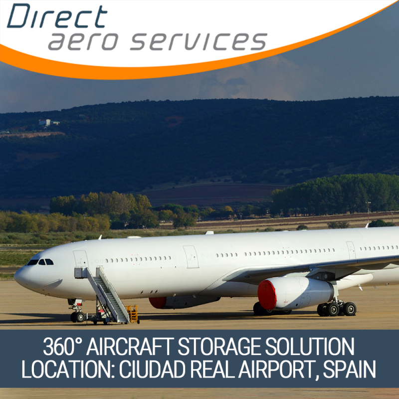 360°Aircraft Storage Solution, aircraft parking and storage service, aircraft technical services, short-term aircraft parking, long-term aircraft parking, aircraft leasing technical services, aircraft asset management - Direct Aero Services