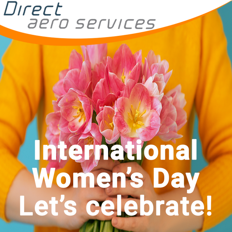women in aviation, aviation careers, international women's day, inspiring others, equal opportunities, supporting women's careers - Direct Aero Services