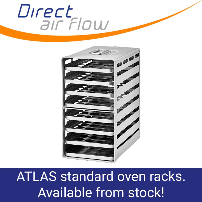 oven racks, atlas oven racks, aircraft galley equipment, oven trays, oven inserts, aircraft galley, ATLAS standard oven racks, Aluflite oven racks - galley oven racks - Direct Air Flow
