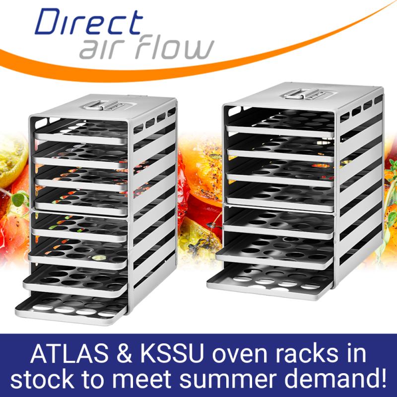 oven racks, atlas oven racks, kssu oven racks, aircraft oven racks, oven trays, aluflite oven racks, aluminium oven racks, galley oven racks - Direct Air Flow