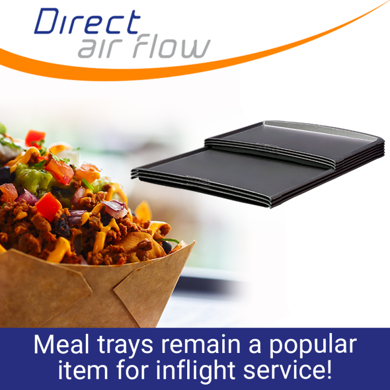 inflight meal trays, meal trays, food and beverage trays, ATLAS standard meal trays, KSSU standard meal trays - Direct Air Flow