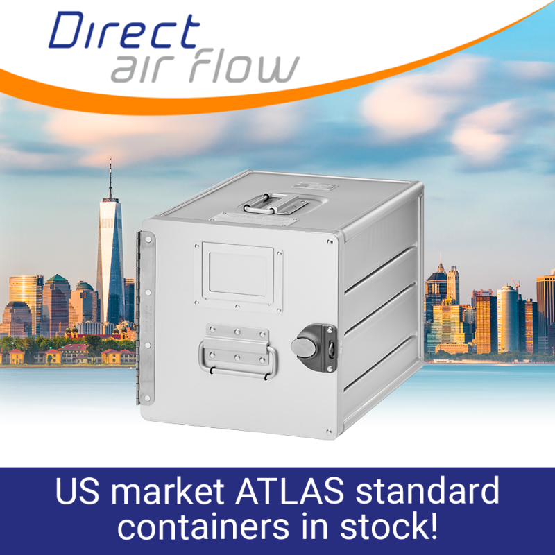 atlas containers, atlas standard units, atlas carriers, airline storage containers, cabin storage, galley insert equipment, aluminium aircraft interior containers, aluminium standard units – Direct Air Flow