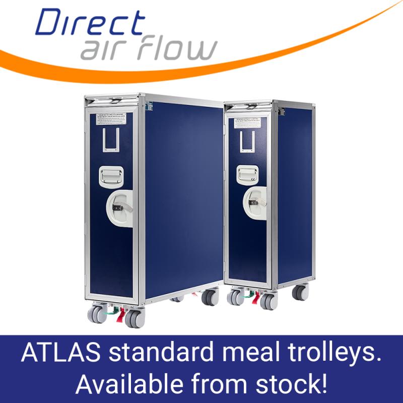 ATLAS standard trolleys, aircraft meal trolleys, cabin service trolleys, ATLAS airline carts, airline meal trolleys, food and beverage trolleys - Direct Air Flow
