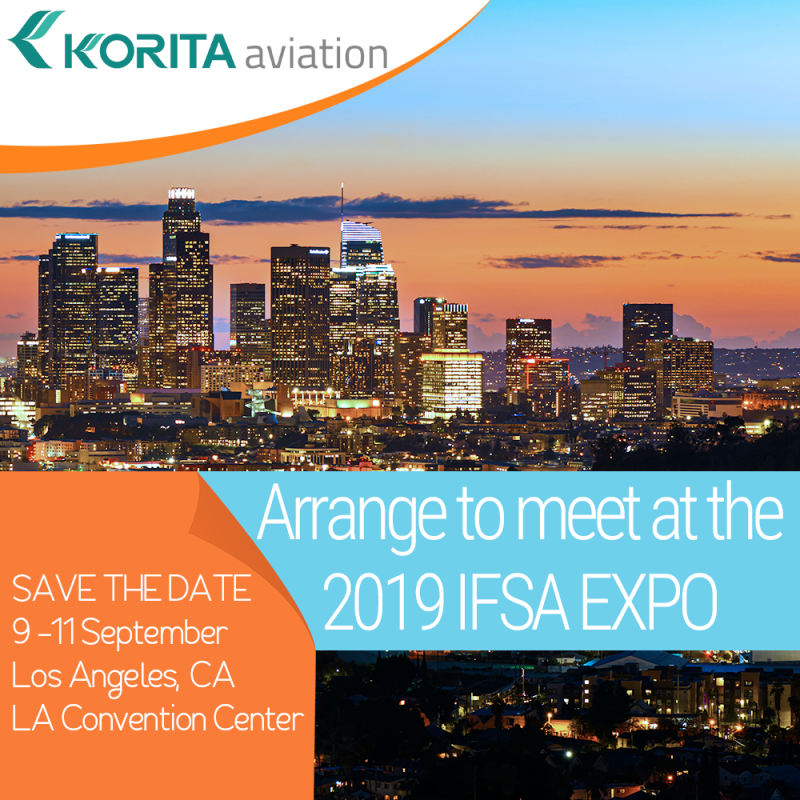 Korita Aviation is attending the 2019 IFSA EXPO between 9-11 September in Los Angeles, CA at the LA Convention Center. Arrange to meet, contact us - Korita Aviation