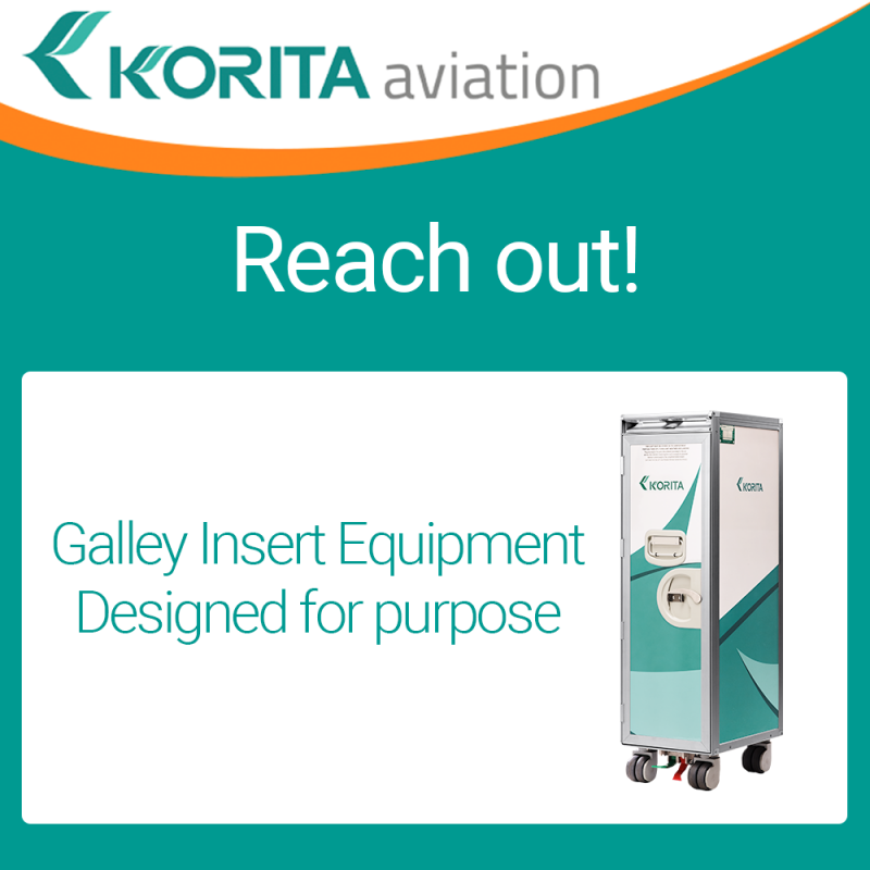WTCE 2020 postponed, contact Korita Aviation, Galley Insert Equipment, Define galley equipment requirements, inflight catering, galley insert equipment manufacturer, airline trolleys, airline containers, airline standard units, airline folding trolleys, a