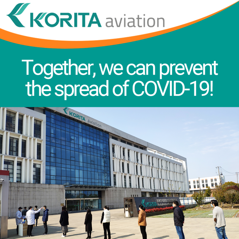 Korita Aviation, COVID-19, Staying safe and well during COVID-19, galley insert equipment manufacturer - Korita Aviation