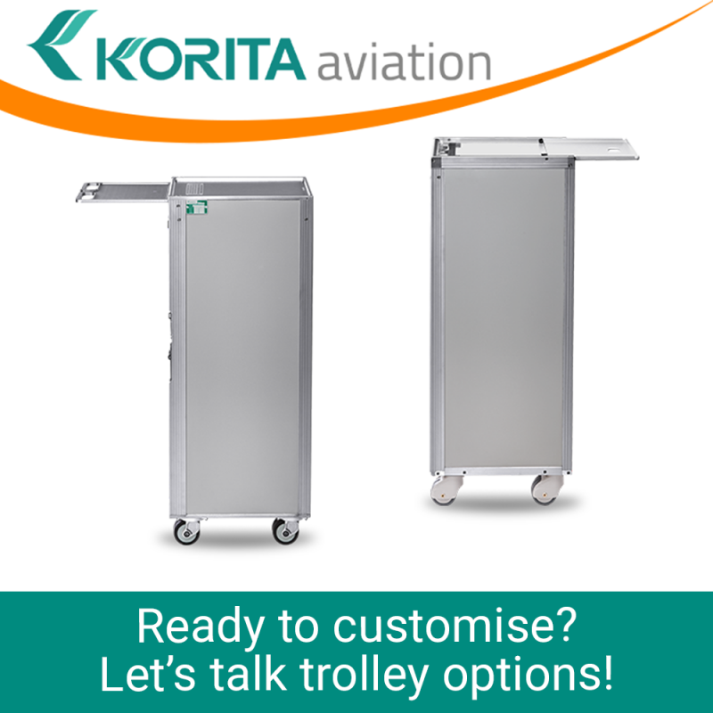 airline cart options, airline trolley options, rail service caddy options, rail catering trolley options, inflight catering trolley options, atlas trolley options, airline cart table top options, catering trolley options - Korita Aviation