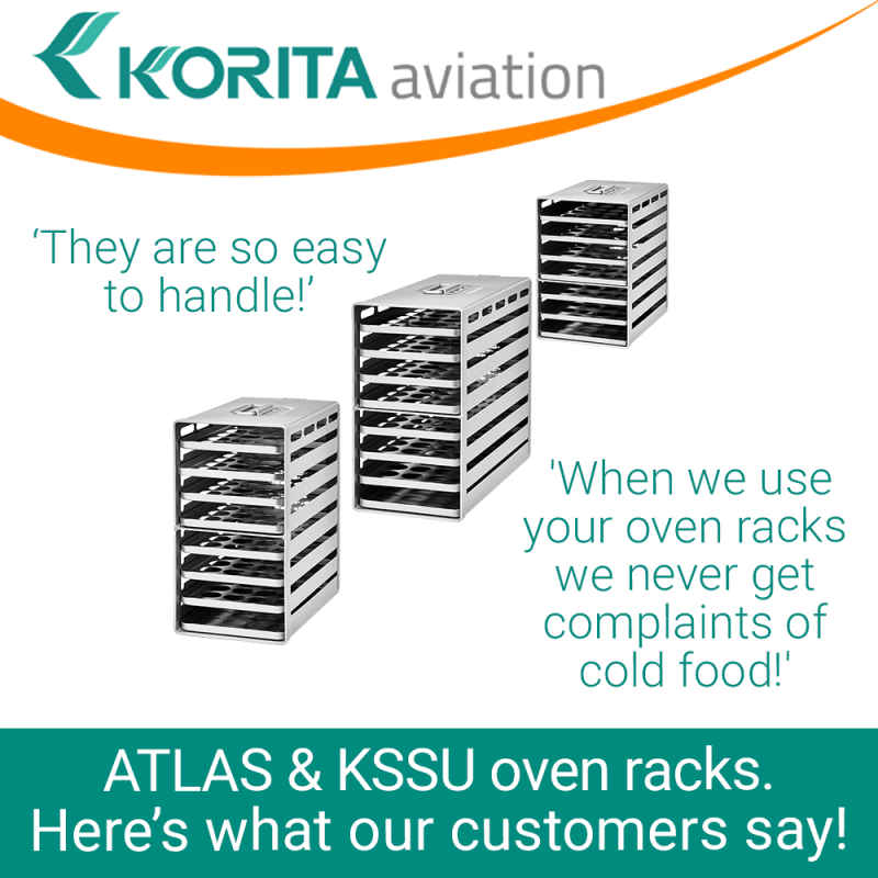 Aluflite oven racks, Aluflite ATLAS standard oven rack, Aluflite KSSU standard oven rack, airline oven racks, atlas extended oven racks, aluflite oven trays, inflight oven racks, aircraft galley oven racks - Korita Aviation