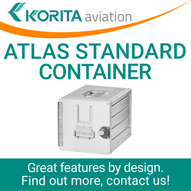 airline inflight storage, ATLAS box, Aluflite containers, ATLAS standard, standard units, atlas containers, ATLAS galley, aircraft storage, airline carriers, airline containers - Korita Aviation