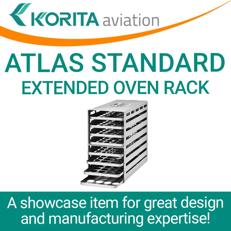 ATLAS standard extended oven racks, inflight galley, galley oven trays, aircraft galley oven racks, airplane oven racks, Aluflite oven racks, aviation oven racks, airline catering oven racks - Korita Aviation
