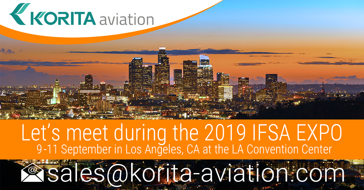 Meet up with our sales team during the 2019 IFSA EXPO - Contact Korita Aviation