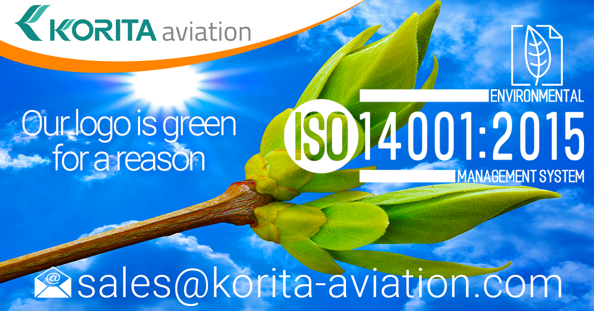 Korita Aviation is certified ISO 14001:1500 - Environmental Management System