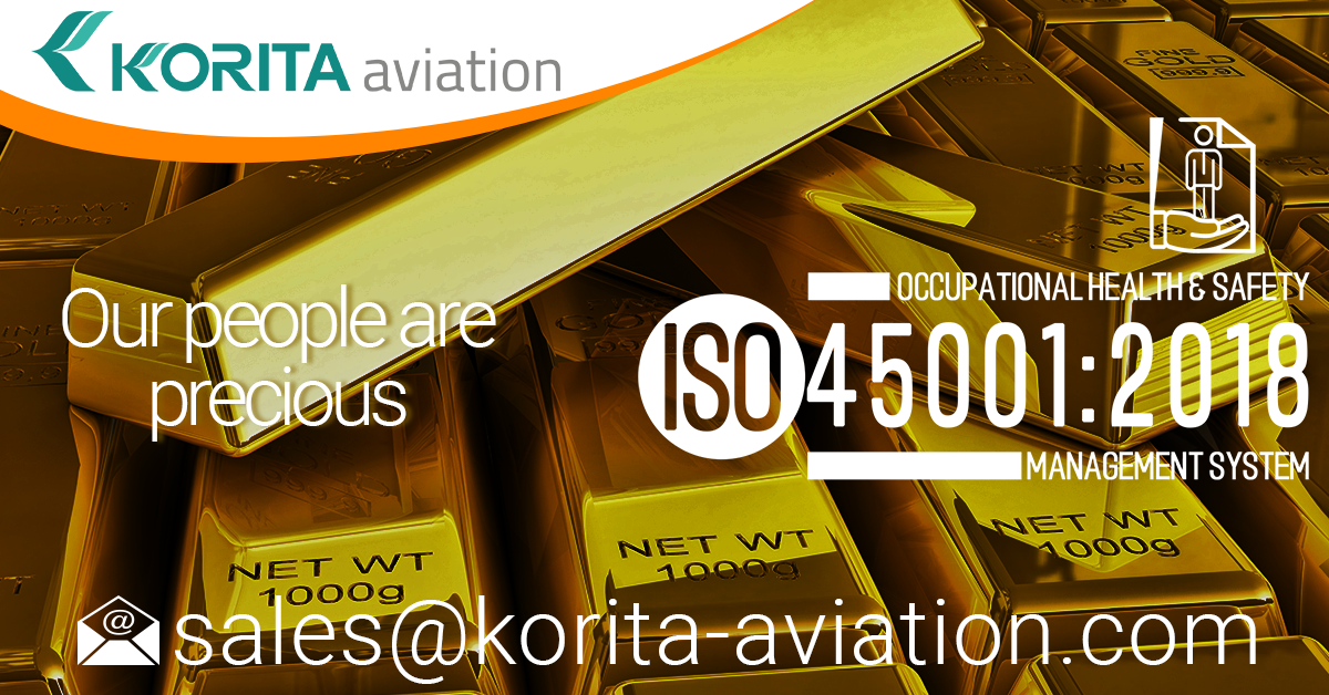 Korita Aviation is certified for ISO 45001:2018 - OHSMS
