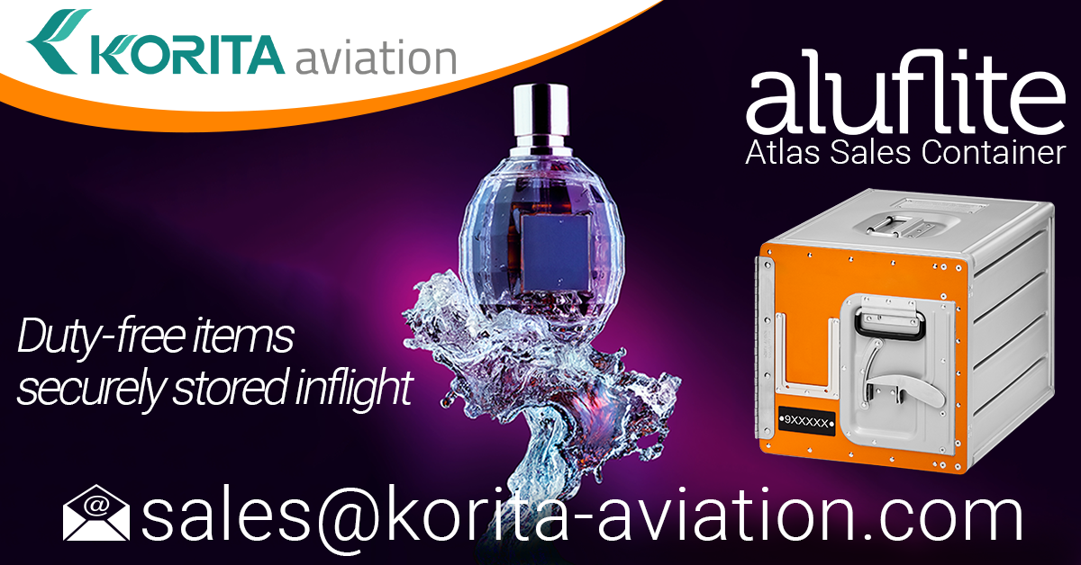product spotlight, duty-free item storage, inflight sales, galley insert equipment, sales container, standard units, airline containers, inflight storage, Aluflite, Atlas Sales Container - Korita Aviation