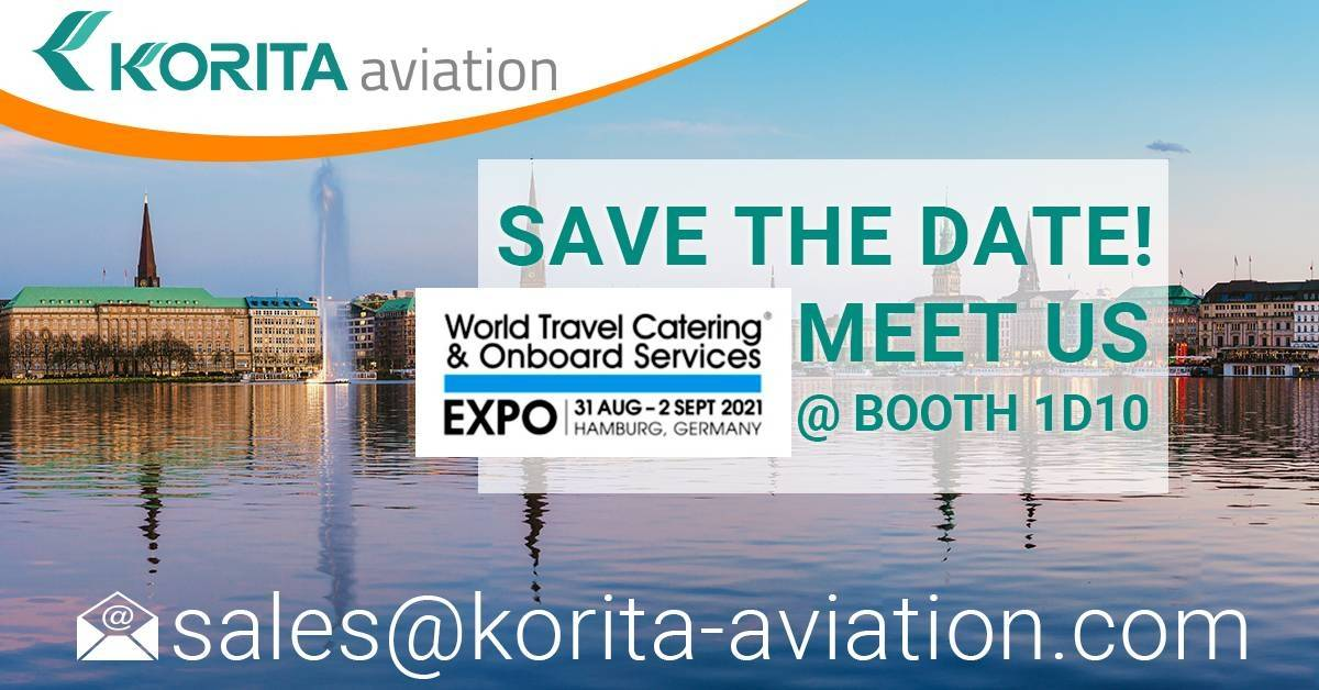 Korita Aviation galley equipment manufacturer, World Travel Catering & Onboard Services Expo, Korita Aviation is exhibiting at the WTCE 2021 - Korita Aviation