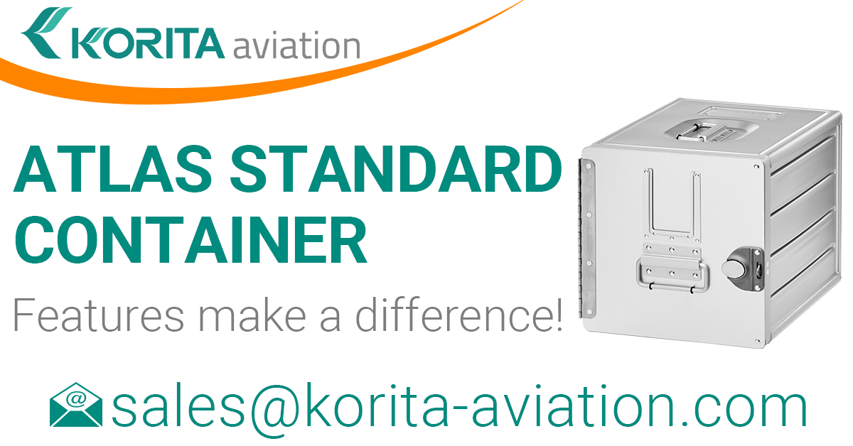 airline inflight storage, Aluflite containers, ATLAS standard, standard units, atlas containers, ATLAS galley, aircraft storage, airline carriers, airline containers - Korita Aviation