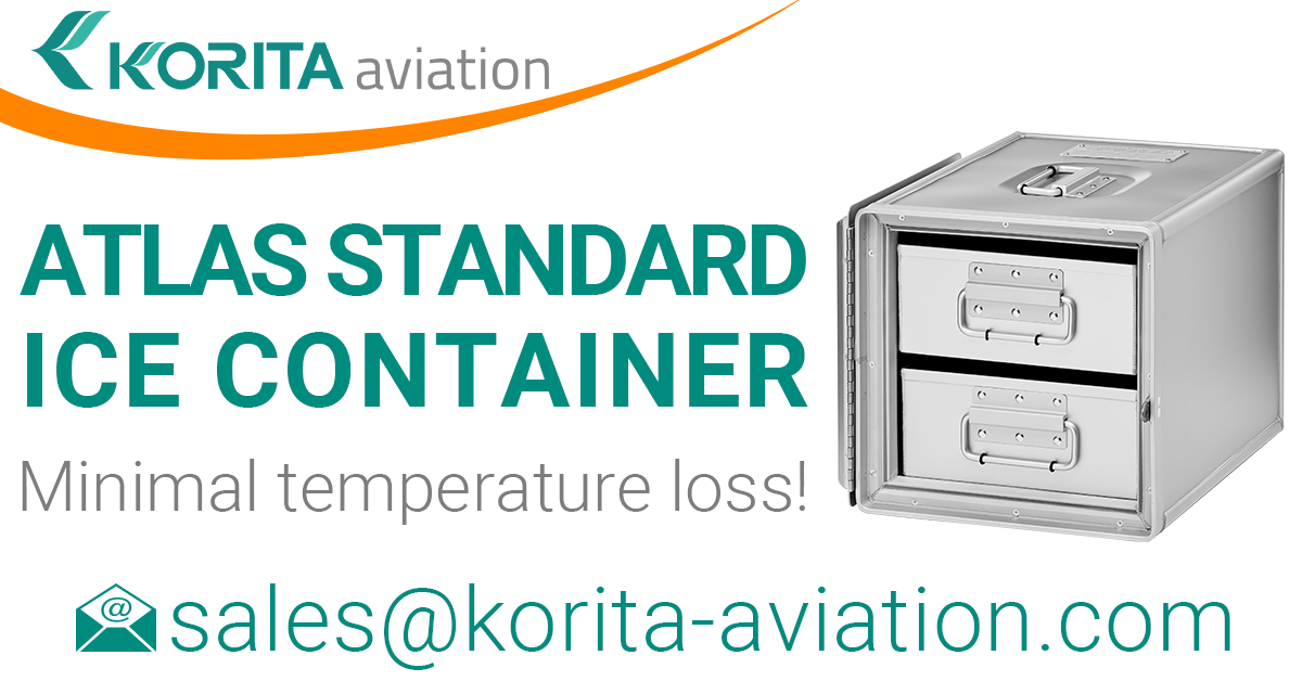 ATLAS ice container, airline inflight storage, Aluflite insulated containers, ATLAS standard, standard units, atlas ice containers, ATLAS galley, aircraft storage, airline carriers, airline containers - Korita Aviation