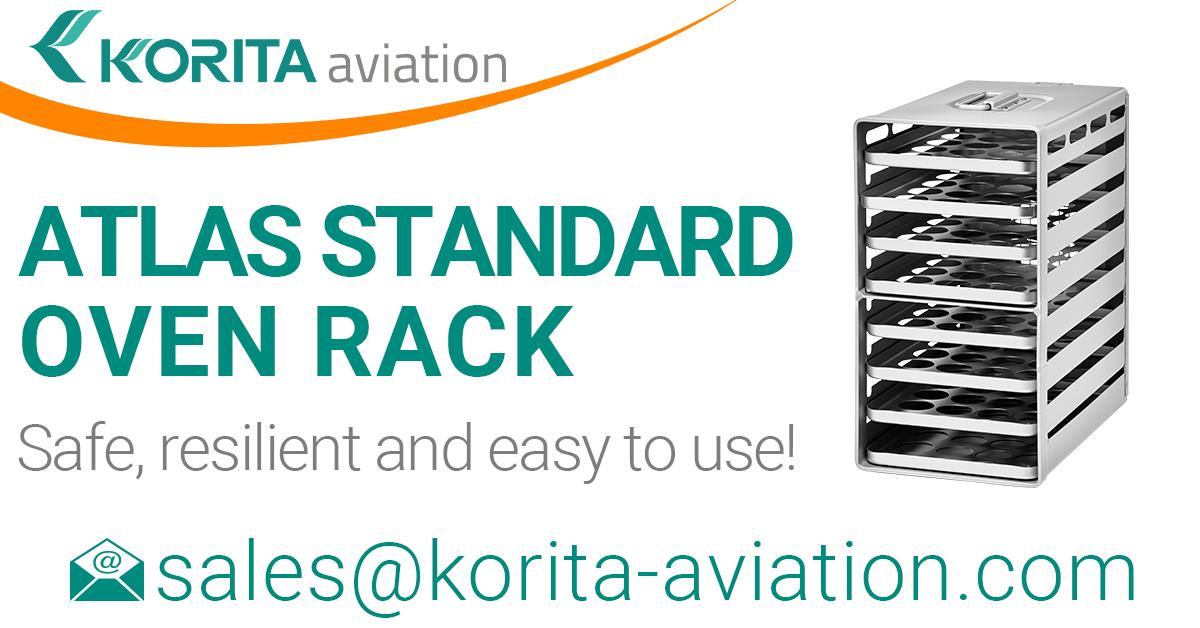 ATLAS standard oven racks, inflight galley, galley oven trays, aircraft galley oven racks, airplane oven racks, Aluflite oven racks, aviation oven racks, airline catering oven racks - Korita Aviation